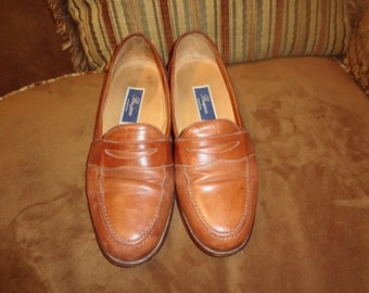 Brown Leather Cole Haan Bragano Loafers 9.5M