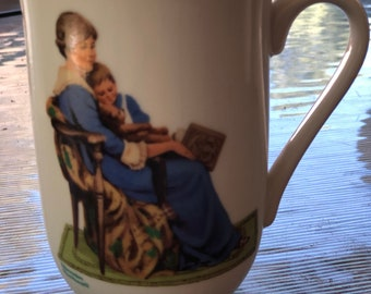 "Norman Rockwell ""Bedtime"" cup"