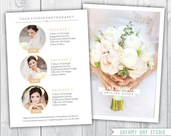 wedding photographer pricing template / photography pricing template / photographer price list / templates for photographers / photography