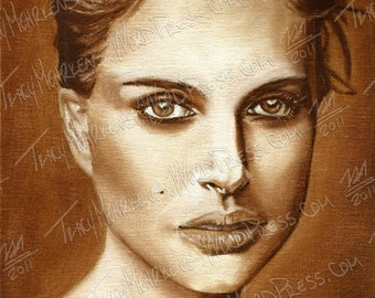 Natalie Portman 8x10 in. Oil Paint on Canvas Panel, 2012
