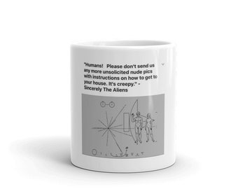 Novelty Funny Alien Mug