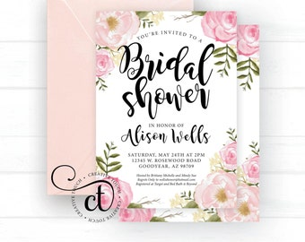 Bridal shower invite etsy filmwisefo Image collections