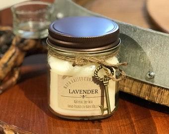Lavender - Handmade Natural Soy Wax Mason Jar Candle