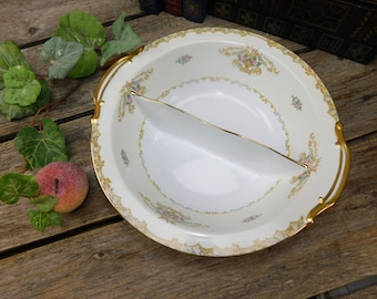 Vintage Noritake Acacia Divided Serving Bowl