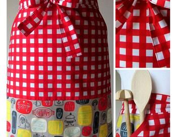 """Apron half apron kittchens apron woman apron Schürze Kochschürze Backschürze """"Whats Cookin"""""""