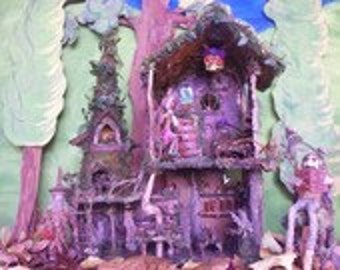 "Print, ""The Elf's Forest Cottage"""