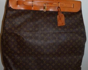 Vintage Louis Vuitton Monogram XL Steamer Luggage Travel Bag