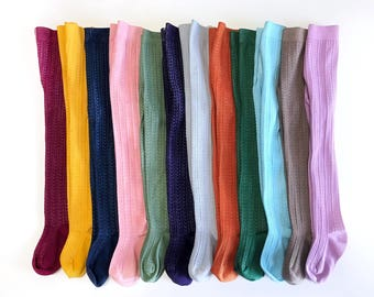 Cable Knit Tights Baby Tights Girls Hand-Dyed Tights Baby Stockings Kids Clothing Infant, Toddler and Girl Sizing, Squishy Cheeks