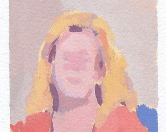 original painting / gouache painting / original portrait