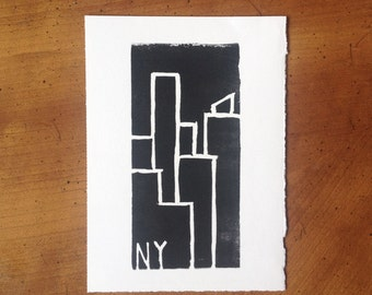 "New York Skyscraper Print - 5""x7"""