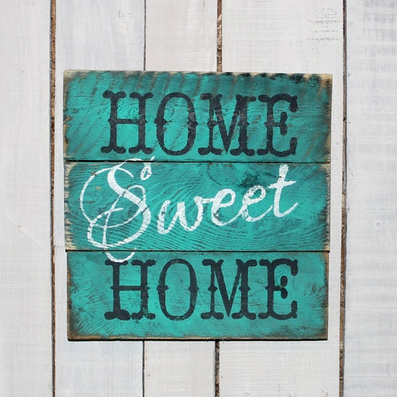 Items Similar To Country Pallet Sign Home Sweet Home