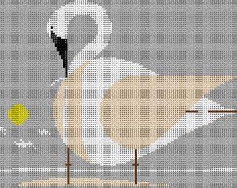 Trumpeter Swan Needlepoint Pattern
