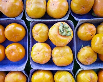 Food Photography - Farmer's Market, Persimmons, Fruit, Kitchen