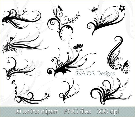Swirls clipart vector swirls clip art digital flourish clipart zoom stopboris Choice Image