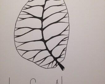 Leaf Me Alone Print