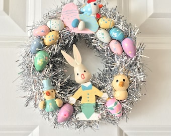 Vintage Inspired Easter Wreath 4.5""