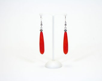 Long earrings drops oranges