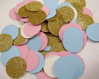 Gender Reveal Confetti/ Pink, Blue, and Gold Confetti