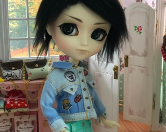 90's denim jacket for 1/6 doll