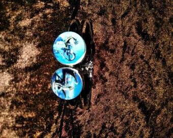 Dueling dragon cuff bracelet