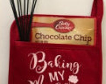 Custom Pot Holder Personalized with Baking Whisk & Mix