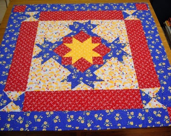 Handmade Lap Quilt or Table Topper