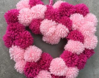Handmade Pom Pom Heart