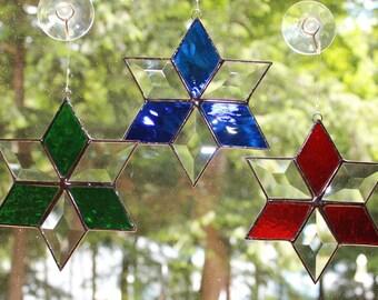Stained Glass Bevel Star Suncatcher