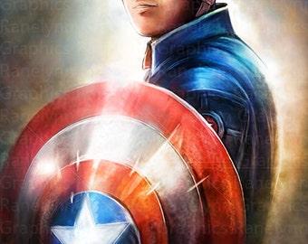 American Soldier Superhero Glossy Poster Print - Free USA Shipping