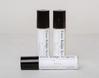 Aromatherapy Focus Roll On, made with essential oils, by green bubble gorgeous on etsy
