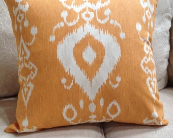 """Savelle/Tullahoma Ikat/Copper Pillow Cover/ 2 available /20"""" x 20"""""""