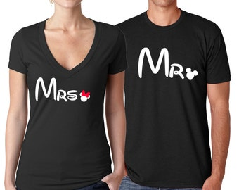 His Hers Couple Shirts, Disney Mickey and Minnie shirts, Matching Disney Couple shirts, His Minnie Her Mickey shirts, Disney Honeymoon shirt