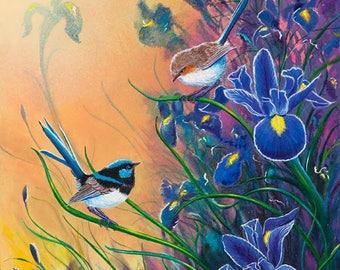 Misty Blue Iris Cross Stitch Pattern***LOOK***