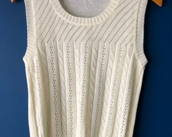 70's knit shell ( fits small)