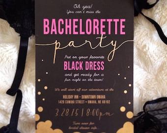 Bachelorette party invites!