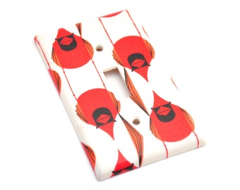 Charley Harper Cardinal Stagger Light Switch Plate Cover