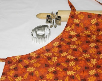 Fall Acorns and Leaves Adult Apron