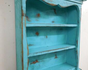 Shabby style wall shelf, primitive wall shelf, sweetheart wall shelf, antique style wall shelf, French Country Book Shelf, Display shelf
