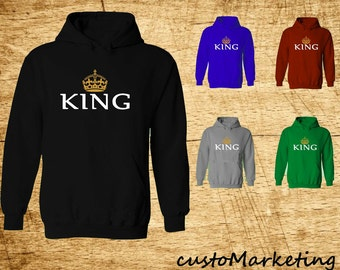 King Crown Hoodie - Sweatshirt Crown King Hoodie Gym Best Design King Sweatshirt