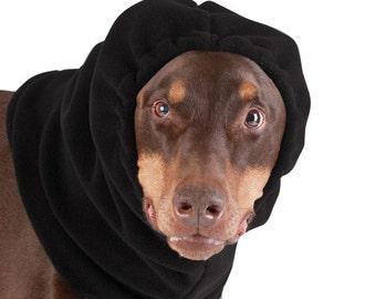 DOBERMAN PINSCHER Dog Hood, Fleece Hat, Dog Snood, Dog Hat, Winter Hat, Hat for Dogs, Ear Warmer, Neck Warmer, Dog Accessories, Dog Clothes