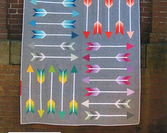 SALE 20% off, Arrow Quilt pattern, Modern Quilt, Pointy Quilt by Elizabeth Hartman, Boy quilt, girl quilt, baby quilt, Bow and Arrow,