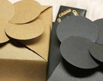 Plain black kraft gift boxes in set of 10