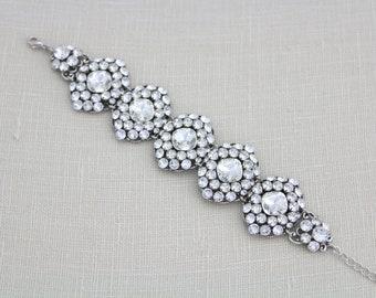 Crystal Bridal bracelet, Bridal jewelry, Wedding bracelet, Swarovski crystal bracelet, Rhinestone bracelet, Wedding jewelry, Cuff bracelet
