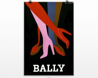 French Poster Wall Art, Bally poster, Wall Decor, Ad Posters, Poster Art -  PP169