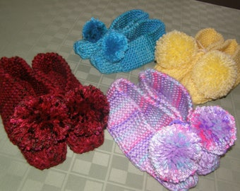 slippers, house slippers, socks, foot warmers, booties, home shoes, knit slippers,