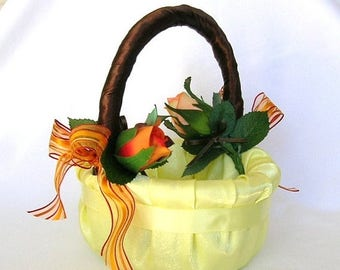 On Sale Here Comes The Autumn Bride Flower Girl Basket