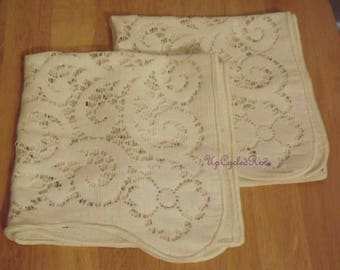 Vintage Lace Dresser Scarves Set of Two Ships free in USA Next Day