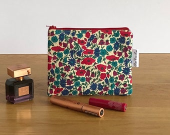 makeup bag - Liberty of London - floral makeup bag - beauty bag - cosmetics bag - zipped pouch - gift for her - bridesmaids gift