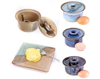 Microwave egg cooker- ceramic egg cooker | pottery microwave egg poacher | scrambled egg microwave / MADE TO ORDER- Allow up to 6 weeks