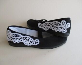 Wedding Flats,Black Wedding Shoes,Woman Summer Shoes,Girls Shoes,Mary jane Shoes,Wedding Ballet Flats, Dancing, Summer Dress Shoes